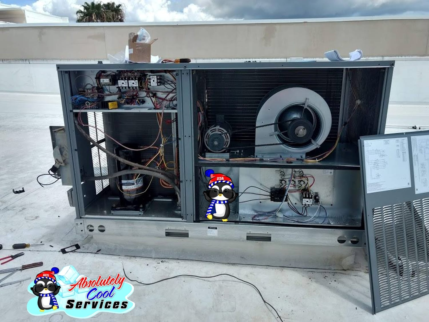 Roof Air Conditioning | Emergency Air Conditioning Maintenance Company near Lake Worth